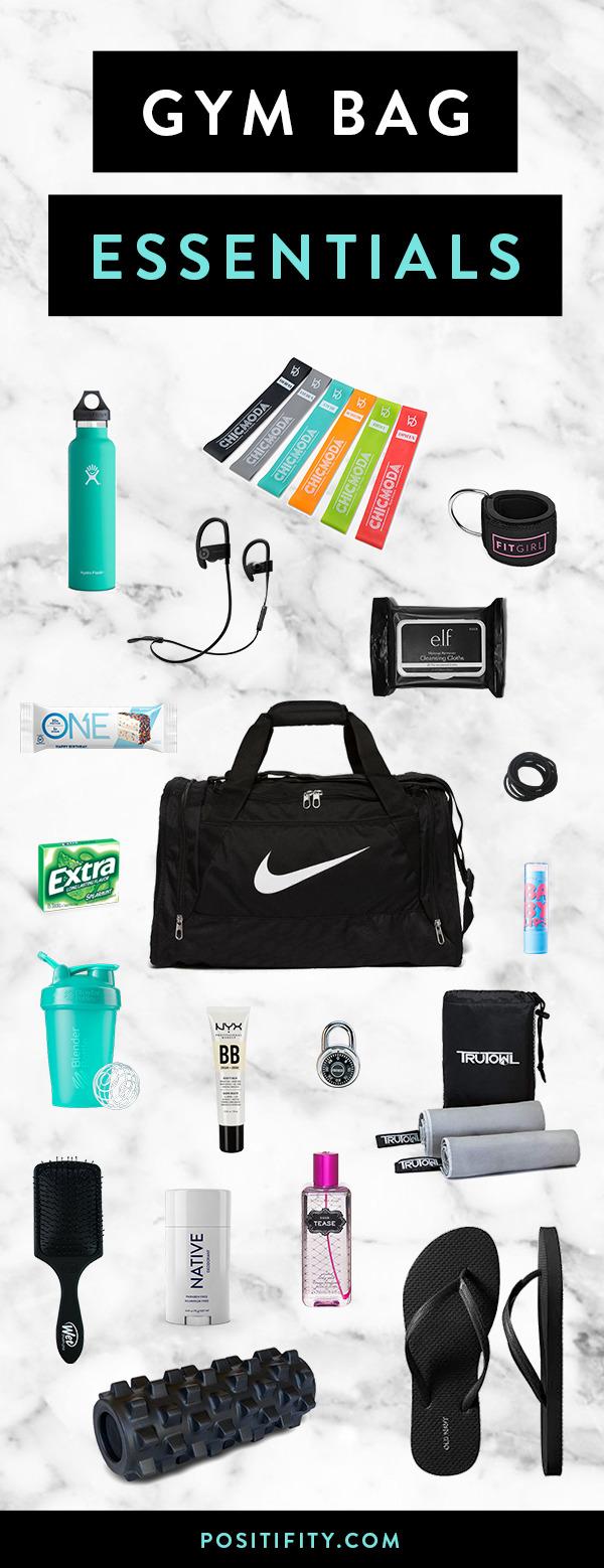 308e4ec967e6e9 24 Gym Bag Essentials Every Fit Girl Needs - Positifity